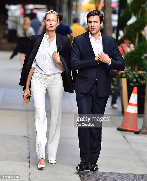 Karolinna Kurkova and Archie Drury are seen on May 3 2015 in New York City