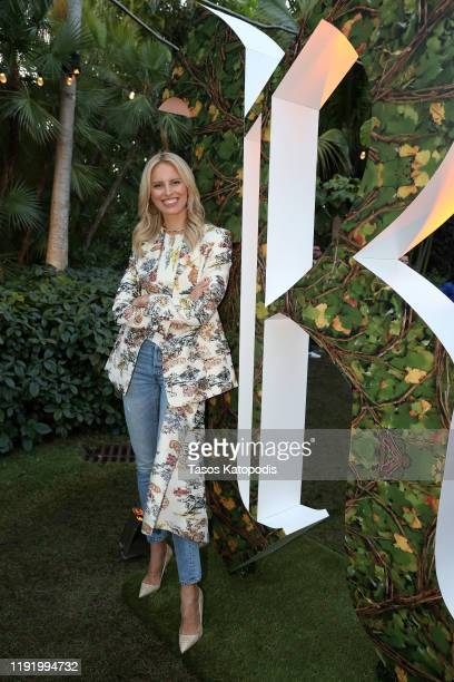 Karolína Kurková attends Ruinart x Vik Muniz Art Basel Miami Beach Champagne Fête at Miami Beach Botanical Garden on December 04 2019 in Miami Beach...