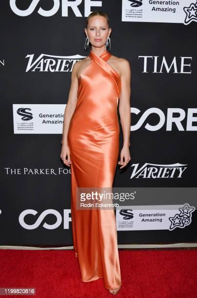 Karolína Kurková attends Sean Penn Bryan Lourd and Vivi Nevo Host 10th Anniversary Gala Benefiting CORE at Wiltern Theatre on January 15 2020 in Los...