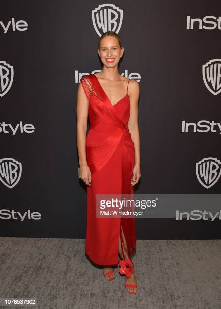 Karolína Kurková attends the 2019 InStyle and Warner Bros 76th Annual Golden Globe Awards PostParty at The Beverly Hilton Hotel on January 6 2019 in...