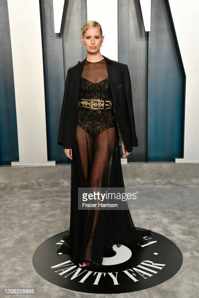 Karolína Kurková attends the 2020 Vanity Fair Oscar Party hosted by Radhika Jones at Wallis Annenberg Center for the Performing Arts on February 09...