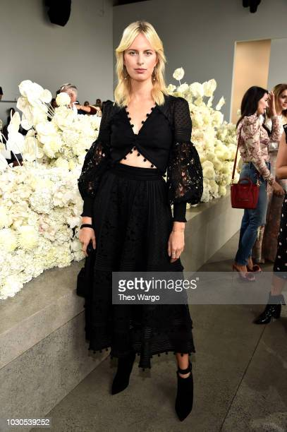Karolína Kurková attends the Zimmermann front row during New York Fashion Week The Shows at Gallery I at Spring Studios on September 10 2018 in New...
