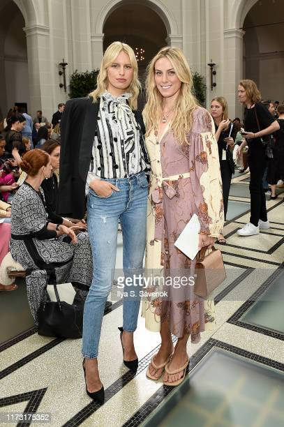 Karolína Kurková attends Tory Burch NYFW SS20 at the Brooklyn Museum on September 08, 2019 in Brooklyn City.
