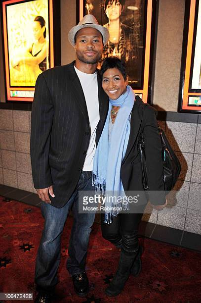 Karon Riley and his wife actress Terri Vaughn attend the For Colored Girls Screening at Regal Atlantic Station on November 1 2010 in Atlanta Georgia