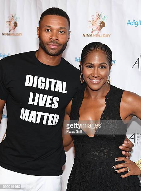 Karon Riley and Terri J Vaughn attend #DigitalLivesMatter Atlanta screening at Regal Atlantic Station on August 24 2016 in Atlanta Georgia