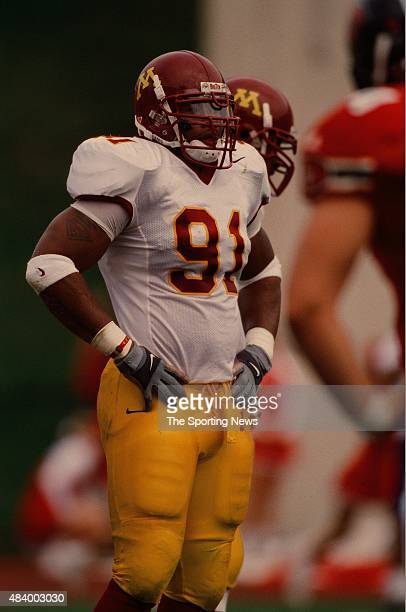 Karon Riley of the Minnesota Golden Gophers looks on against the Indiana Hoosiers on October 21 2000