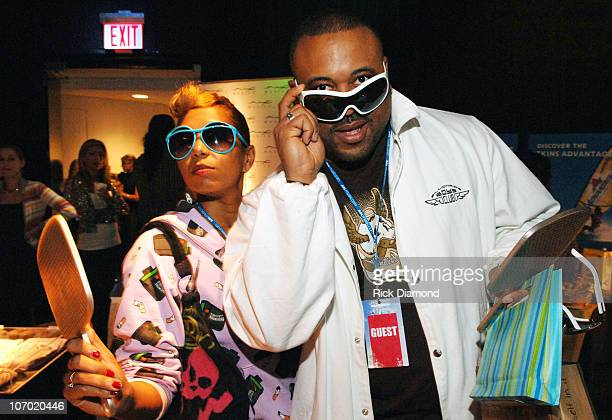 Karon Vereen and Bryan Barber Director during Luxottica at the AOL Style Lounge Day 2 at AOL Studio in New York City New York United States