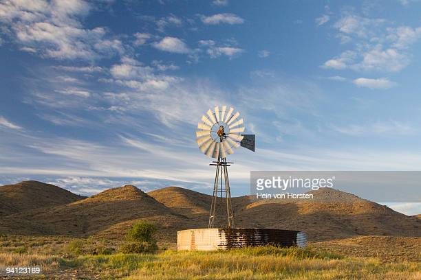 karoo windmill laingsburg, western cape province, south africa - the karoo stock photos and pictures