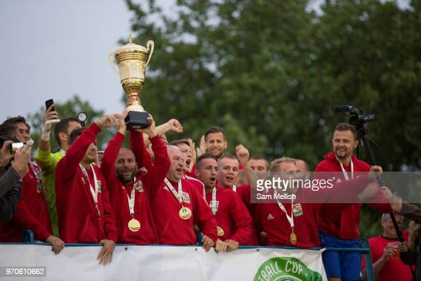 Karpatalya beat Northern Cyprus 3 2 in penalties during the Conifa Paddy Power World Football Cup finals on the 9th June 2018 at Queen Elizabeth II...