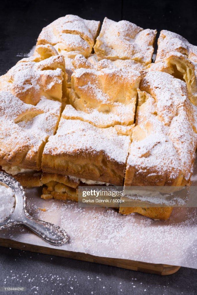 Karpatka Is A Traditional Polish Cream Pie : Stock-Foto