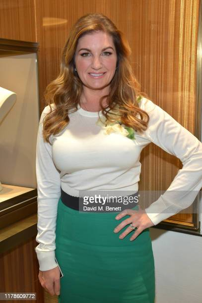 Karren Brady attends the re-opening of the Mikimoto Bond Street Boutique on October 02, 2019 in London, England. Guests were welcomed by Mr Sotaro...