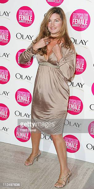 Karren Brady during Cosmopolitan Fun Fearless Female Awards with Olay Red Carpet at Bloomsbury Ballroom in London Great Britain
