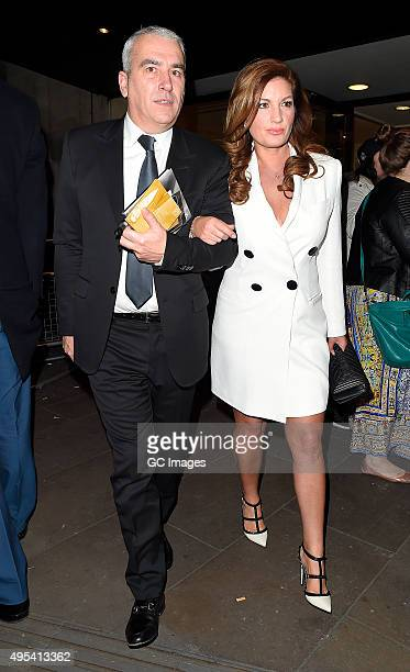 Karren Brady leave Grosvenor Hotel after the Music Industry Trusts Awards on November 2 2015 in London England