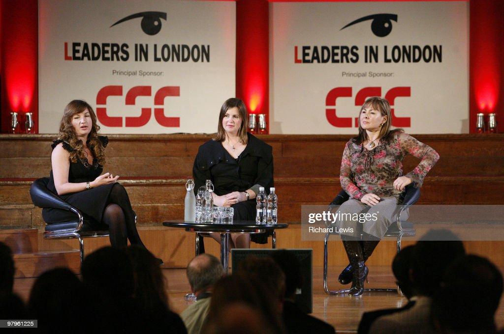 Karren Brady, Nicola Horlick and Sally Preston pictured at the Leaders in London International Leadership Summit on November 29, 2007 in London. The event, now in its forth year, hosted a stellar line up of international speakers discussing aspects of business leadership to an audience of the UK an Europe's leading businessmen. Speakers include Kofi Annan, The Hon Al Gore, David Cameron, Sir Martin Sorrell and Karren Brady amongst others.