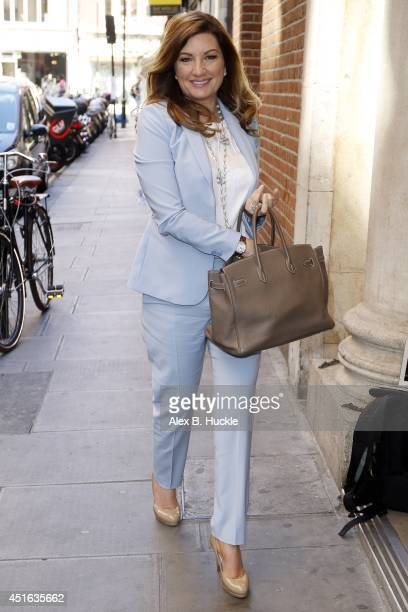 Karren Brady seen arriving at the Bauer Media offices for radio interviews on July 3 2014 in London England