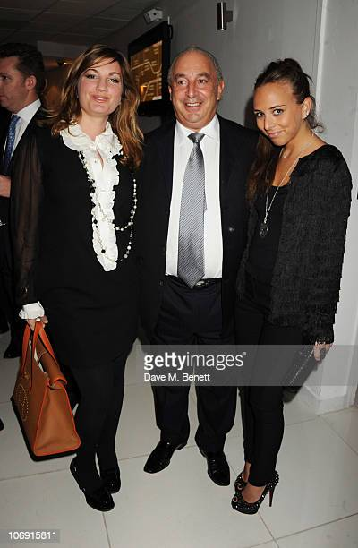 Karren Brady Sir Philip Green and Chloe Green attend The Evening Standard Influentials Party to celebrate the 1000 most influential people in London...