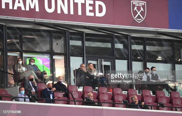 Karren Brady, Vice-Chairman of West Ham United, her husband Paul Peschisolido, Mike Ashley, Newcastle United Owner, David Gold, Owner of West Ham...