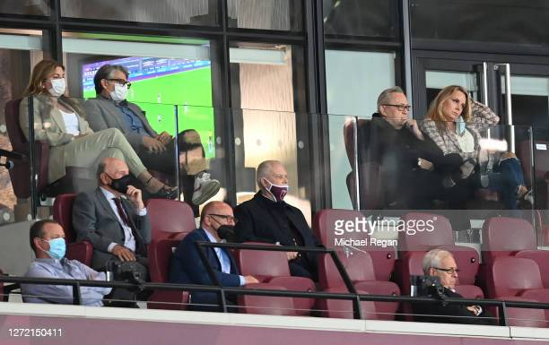 Karren Brady, Vice-Chairman of West Ham United, her husband Paul Peschisolido, Mike Ashley, Newcastle United Owner, David Gold, Owner of West Ham,...