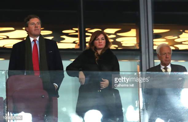 Karren Brady, West Ham United vice-chairman looks on prior to the Carabao Cup Fourth Round match between West Ham United and Tottenham Hotspur at...