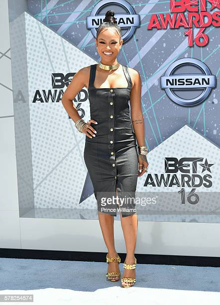 Karreuche Tran attends the 2016 BET awards at Microsoft Theater on June 26 2016 in Los Angeles California