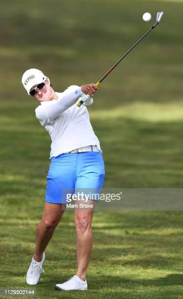 Karrie Webb of Australia during day one of the 2019 ISPS Handa Women's Australian Open at The Grange GC on February 14 2019 in Adelaide Australia