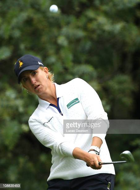Karrie Webb of Australia plays a shot during day three of the Women's Australian Open at The Commonwealth Golf Club on February 5 2011 in Melbourne...