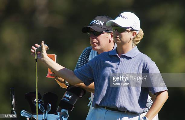 Karrie Webb of Australia pulls a club during the third round of the Jamie Farr Kroger Classic on July 13, 2002 at Highland Meadows GC in Sylvania,...