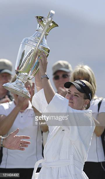 Karrie Webb winner of the Kraft Nabisco Championship at The Mission Hills Country Club in Rancho Mirage California on Sunday April 2 2006