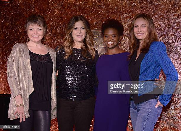 Karrin Allyson Rita Wilson LaChanze and Laura Benanti attend the 54 Press Preview at 54 Below on April 12 2013 in New York City