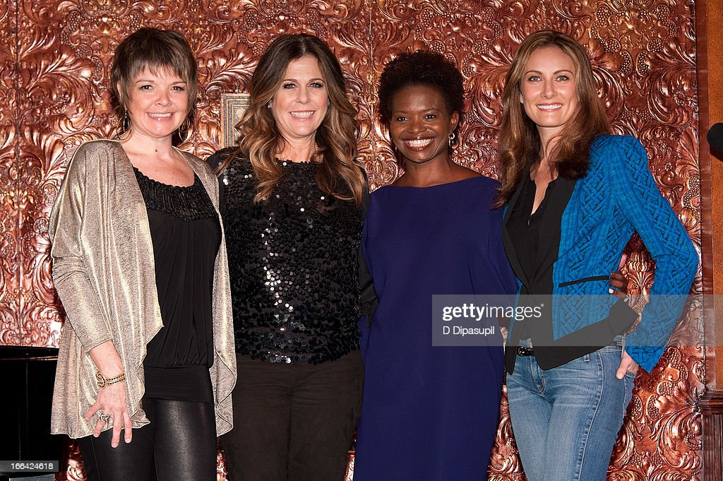 Karrin Allyson, Rita Wilson, LaChanze and Laura Benanti attend the Press Preview at 54 Below on April 12, 2013 in New York City.