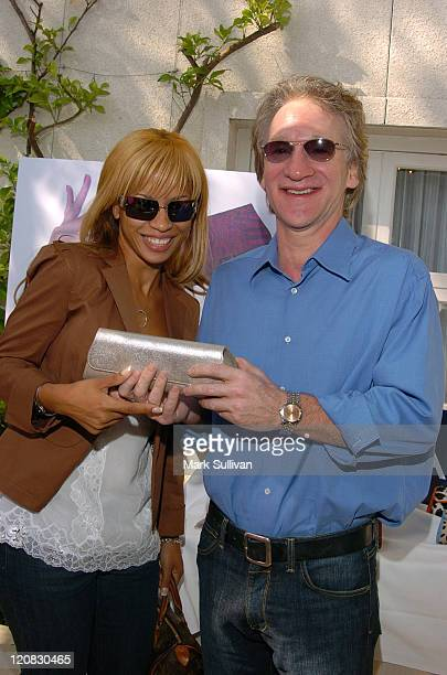 Karrine Steffans and Bill Maher at Jalda Handbags at HBO Luxury Loungeat HBO Luxury Lounge