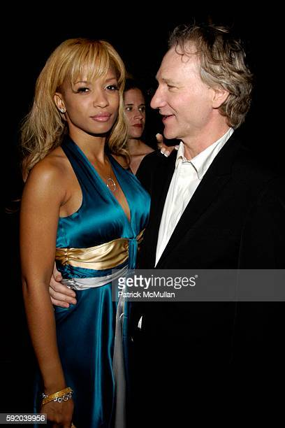 Karrine Steffans and Bill Maher attend TV Guide Inside TV host Emmy Awards After PartyInside at Hollywood Roosevelt Hotel on September 18 2005 in...