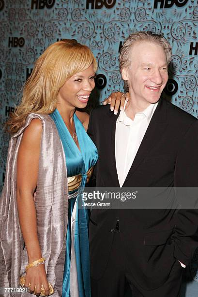 Karrine Steffans and Bill Maher