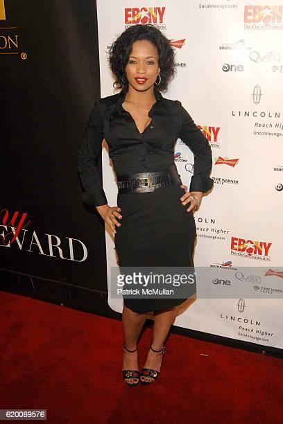 Karrine Steffans attends EBONY Magazine Pre Oscar Celebration at Boulevard 3 on February 21 2008