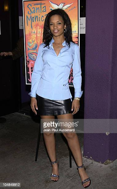 Karrine Steffans during Santa Monica Film Festival Opening Night Spun Screening at Laemmle Theatre in Santa Monica California United States