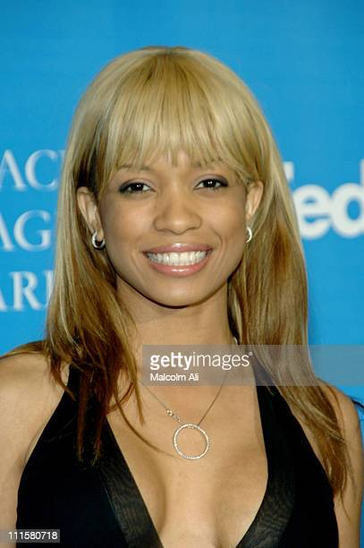 Karrine Steffans during The 37th Annual NAACP Image Awards Red Carpet at Shrine Auditorium in Los Angeles California United States