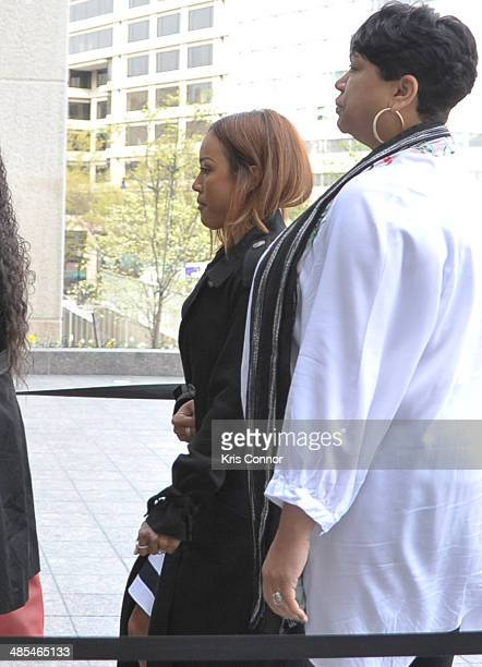 Karrueche arrives to court for Chris Brown's Assault trial on April 18 2014 in Washington DC
