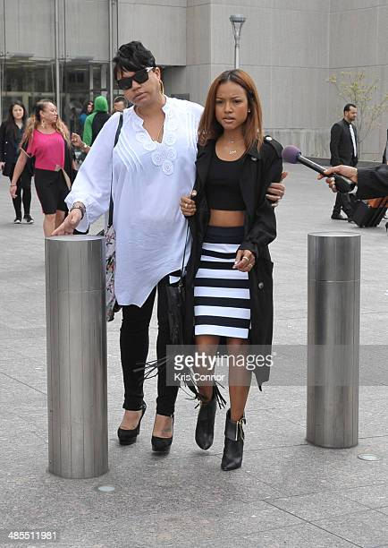 Karrueche leaves the H Carl Moultrie I Superior Court House where the Chris Brown and his bodyguard Christopher Hollosy assualt trials are taking...
