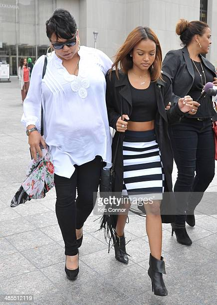 Karrueche leaves the H. Carl Moultrie I Superior Court House where the Chris Brown and his bodyguard Christopher Hollosy assualt trials are taking...