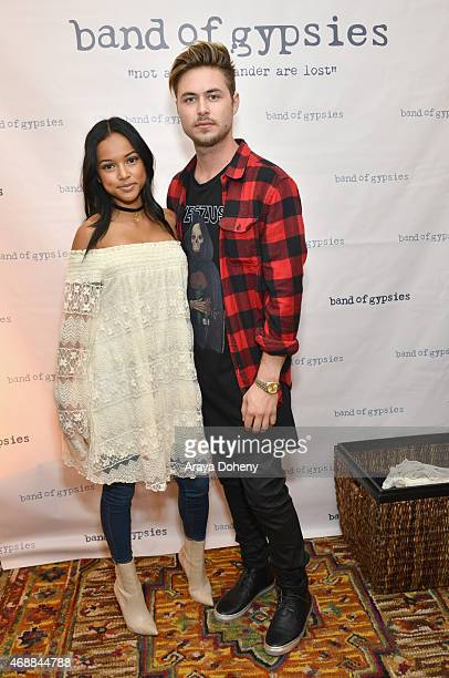 Karrueche Tran and guest attend Kari Feinstein's Music Festival Style Lounge at Sunset Marquis Hotel Villas on April 7 2015 in West Hollywood...