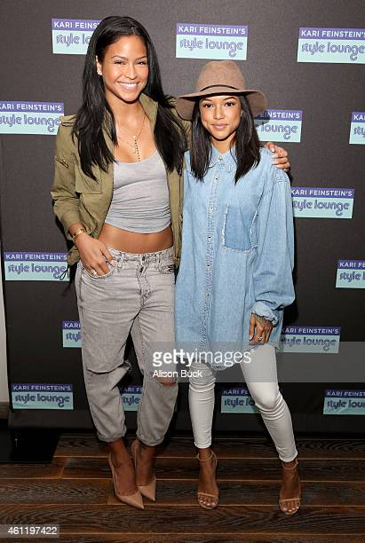 Karrueche Tran and singer Cassie attends Kari Feinstein's PreGolden Globes Style Lounge at Andaz West Hollywood on January 8 2015 in West Hollywood...