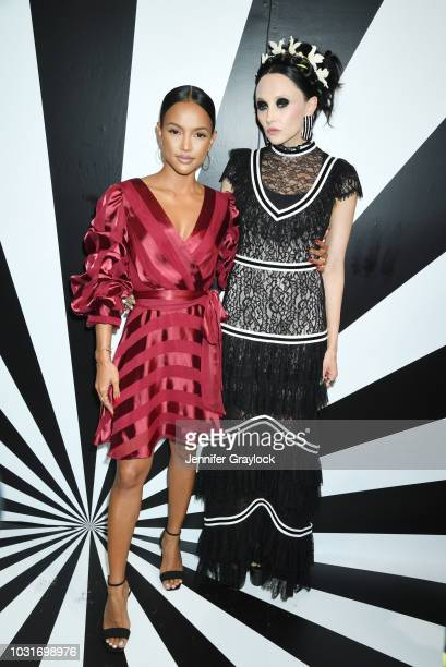 Karrueche Tran and Stacey Bendet attend the alice olivia SS19 Presentation Powered By Bookingcom at Pier 59 Studios on September 11 2018 in New York...