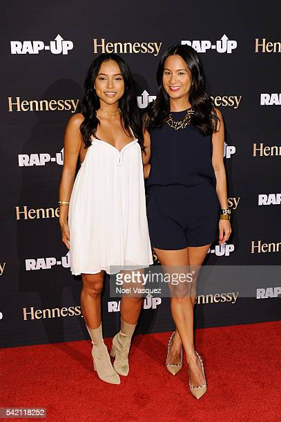 Karrueche Tran and ThuyAnh J Nguyen attend the RapUp PreBET awards dinner presented by Hennessy at Hotel BelAir on June 21 2016 in Los Angeles...