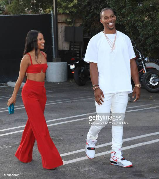 Karrueche Tran and Victor Cruz are seen on July 12 2018 in Los Angeles California