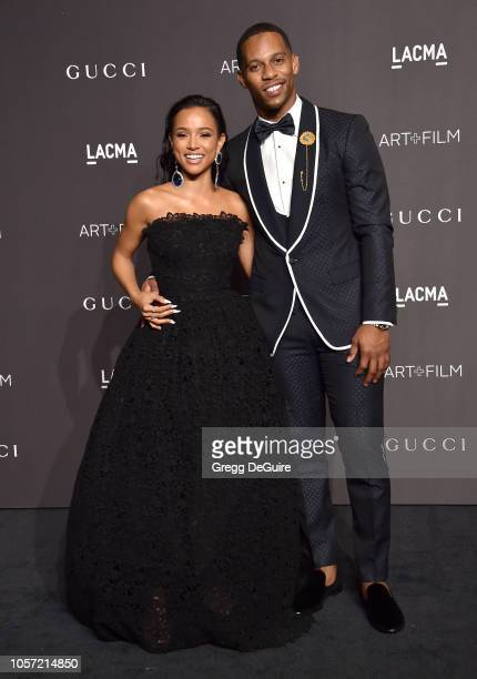 Karrueche Tran and Victor Cruz arrive at the 2018 LACMA Art Film Gala at LACMA on November 3 2018 in Los Angeles California