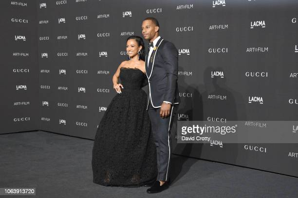 Karrueche Tran and Victor Cruz attend LACMA Art Film Gala 2018 at Los Angeles County Museum of Art on November 3 2018 in Los Angeles CA