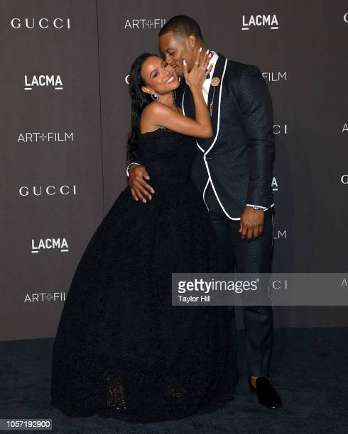 Karrueche Tran and Victor Cruz attend the 2018 LACMA ArtFilm Gala at LACMA on November 3 2018 in Los Angeles California