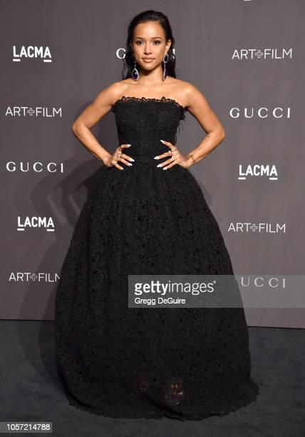 Karrueche Tran arrives at the 2018 LACMA Art Film Gala at LACMA on November 3 2018 in Los Angeles California