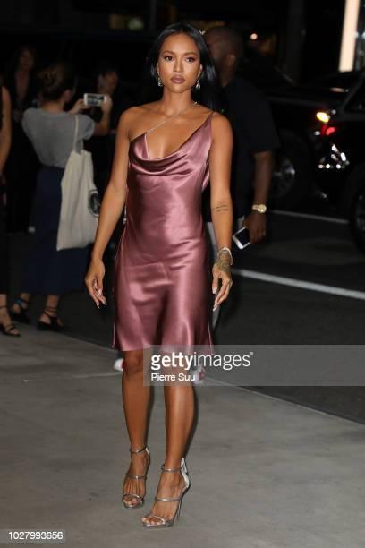 Karrueche Tran arrives at the 6th annual fashion media awards at the Park Hyatt hotel on September 6 2018 in New York City