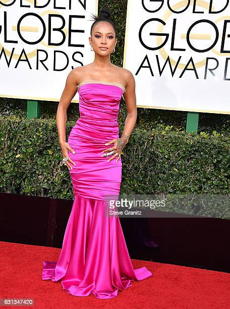 Karrueche Tran arrives at the 74th Annual Golden Globe Awards at The Beverly Hilton Hotel on January 8 2017 in Beverly Hills California